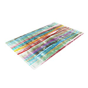 Frederic Levy Hadida Fancy Stripes Light Blue/Red Area Rug