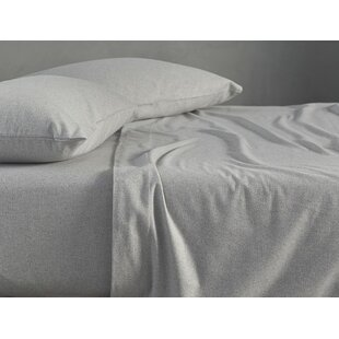 Coyuchi Cloud Brushed Flannel 100% Cotton Fitted Sheet