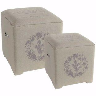 Chaplin 2 Piece Cube Ottoman Set by Gracie Oaks