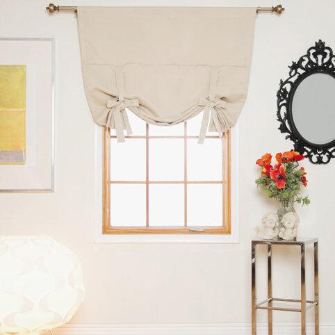 August Grove Sherborne Tie Up Room Darkening Solid Thermal Rod Pocket Single Curtain Panel Reviews Wayfair