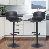 Declo Swivel Adjustable Height 32 Bar Stool (Set of 2) by Latitude Run