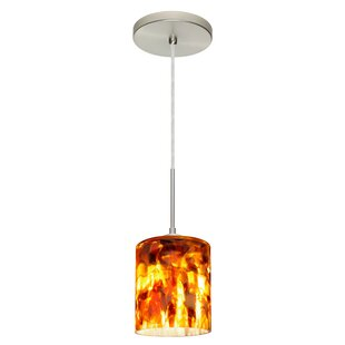 Falla 1-Light Cylinder Pendant by Besa Lighting
