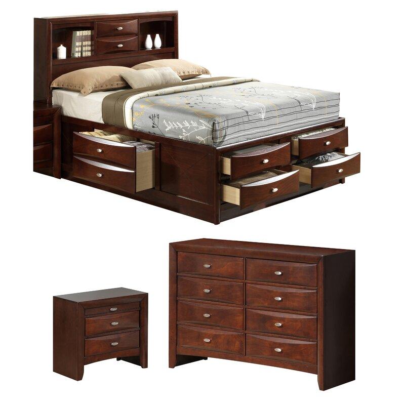Global Furniture USA Linda Platform Configurable Bedroom Set U0026 Reviews |  Wayfair
