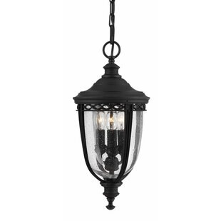 Check Price Thynes 3 Light Outdoor Hanging Lantern
