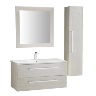Engram 39 Single Bathroom Vanity Set with Mirror by Orren Ellis