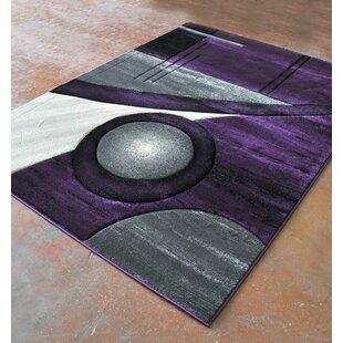 Inexpensive Purple/Black Area Rug ByRug Tycoon