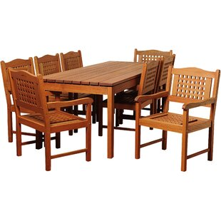 Brighton Eucalyptus 9 Piece Dining Set