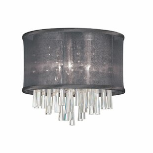 House of Hampton Starlee 3-Light Crystal Flush Mount