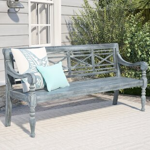 Putnam Acacia Wood Garden Bench by Beachcrest Home