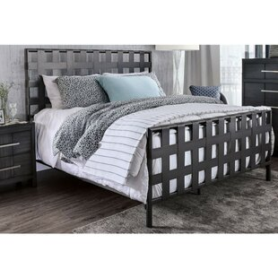 Muth Industrial Metal Queen Panel Bed
