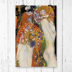 'Water' by Gustav Klimt Graphic art