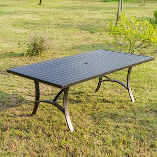 Kain Metal Dining Table by Red Barrel Stu..