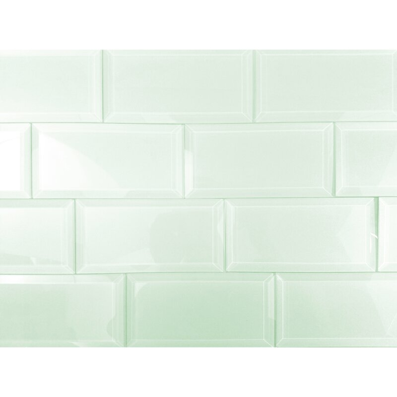 Abolos Frosted Elegance 3 X 6 Glass Subway Tile In Glossy Arctic
