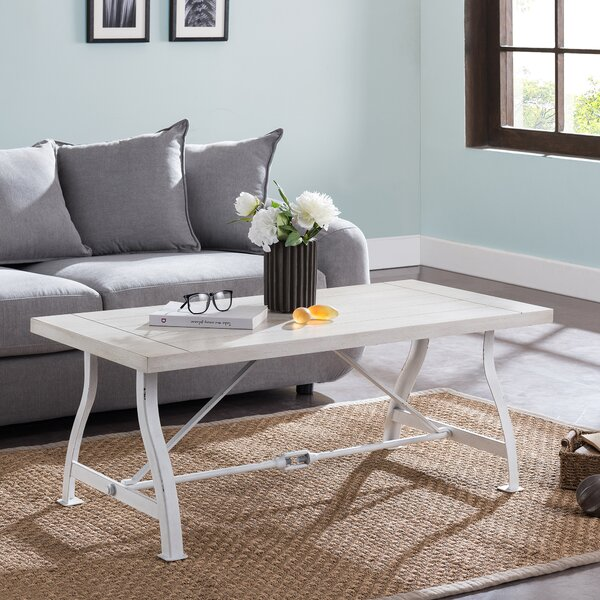 cream distressed coffee table You\'ll Love in 2019 | Wayfair