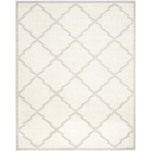 Maritza Geometric Beige/Light Grey Area Rug