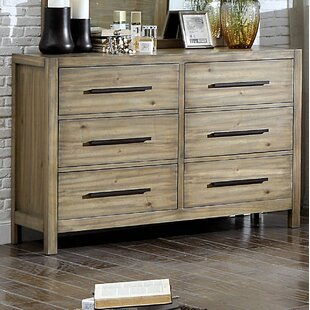 Peres 6 Drawer Double Dresser with Mirror