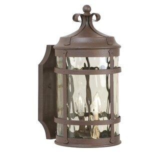 Deals Oakhill Rustic Iron 2-Light Outdoor Wall Lantern By Charlton Home