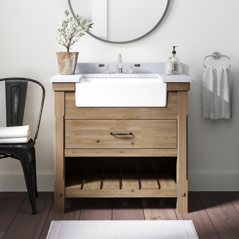 "Kordell 36"" Single Bathroom Vanity Set - PLEASE COME SEE Traditional Style Bathroom Vanity Design Inspiration as well as Vintage Bath Ideas. #bathroomdesign #bathroomvanities #interiordesign"