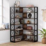 Lazar 71.65 H x 26 W Corner Bookcase by 17 Stories