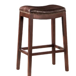 Ordinaire Leather Backless Bar Stool. By Furniture Classics