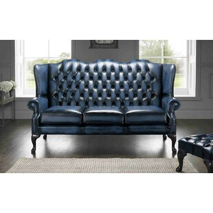 Collings Genuine Leather 3 Seater Chesterfield Sofa By Astoria Grand