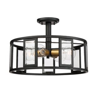 George Oliver Wegener 4-Light Semi Flush Mount