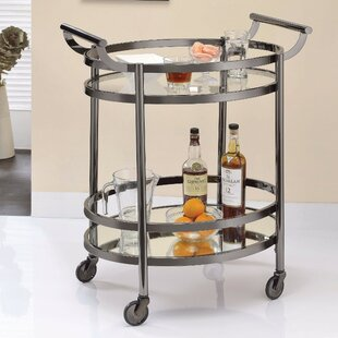 Greenawalt Oval Metal Serving Bar Cart by Brayden Studio