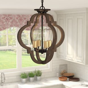 Tremiere 4-Light Geometric Chandelier by Lark Manor