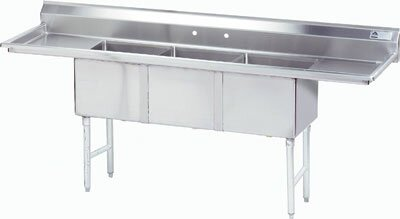 100 x 36 Free Standing Service Sink Advance Tabco
