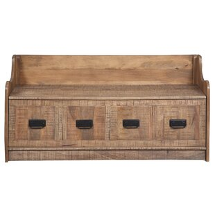Khalil Solid Wood Storage Bench