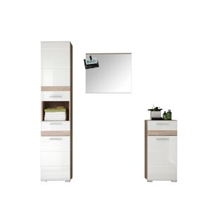 One Zilla 3 Piece Bathroom Furniture Set With Mirror By Mercury Row