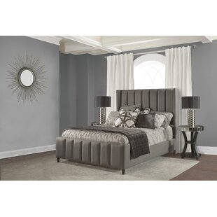 Claudio Upholstered Panel Bed by Fleur De Lis Living