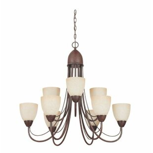 Winston Porter Ayward 9-Light Shaded Chandelier