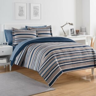 Bradley Stripe Reversible Comforter Set