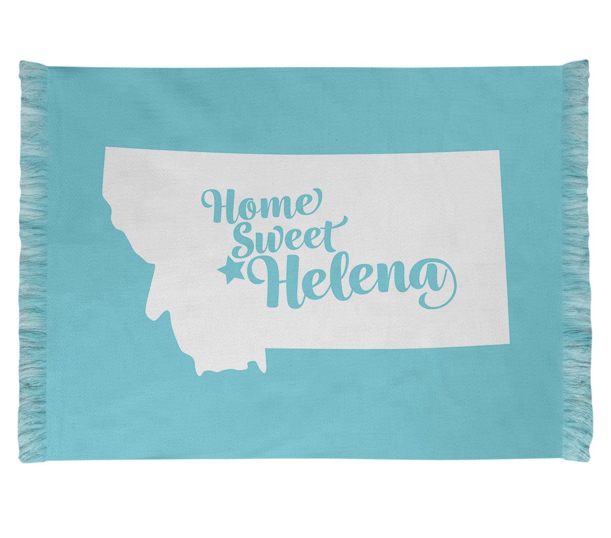 East Urban Home Helena Montana Blue Area Rug Wayfair