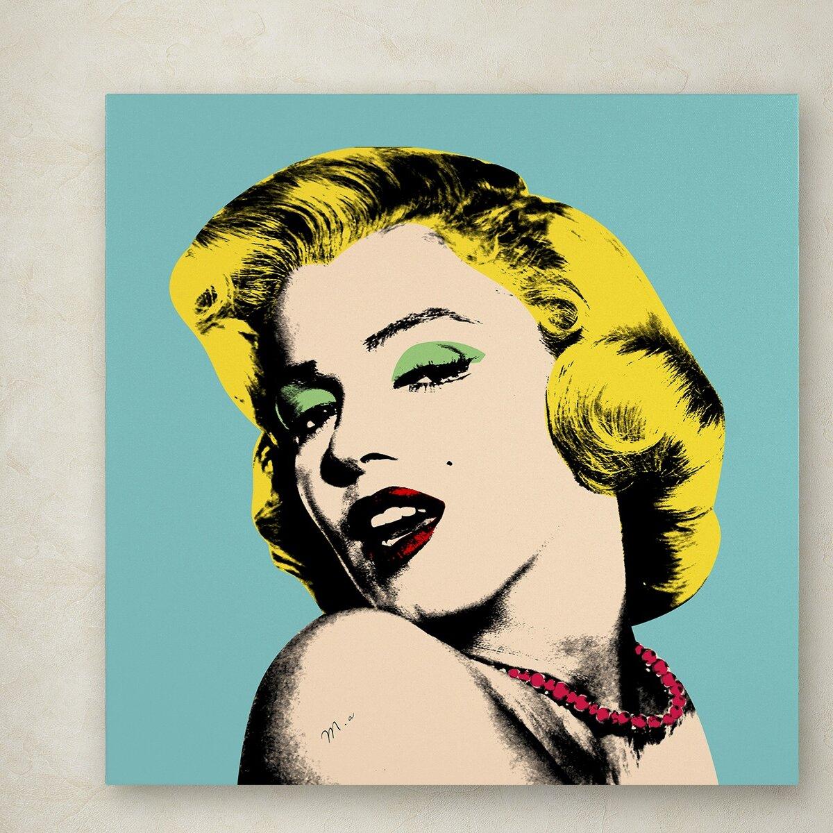 CANVAS Audrey Hepburn Girly Splash Gallery Wrapped Art by Pop Art Queen