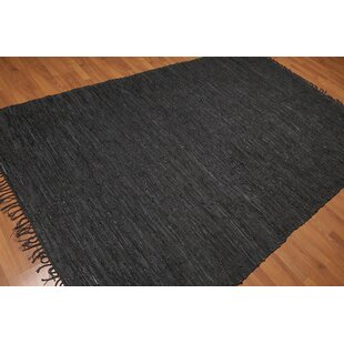 Affordable Price Quintero Hand-Woven Black Area Rug ByBloomsbury Market