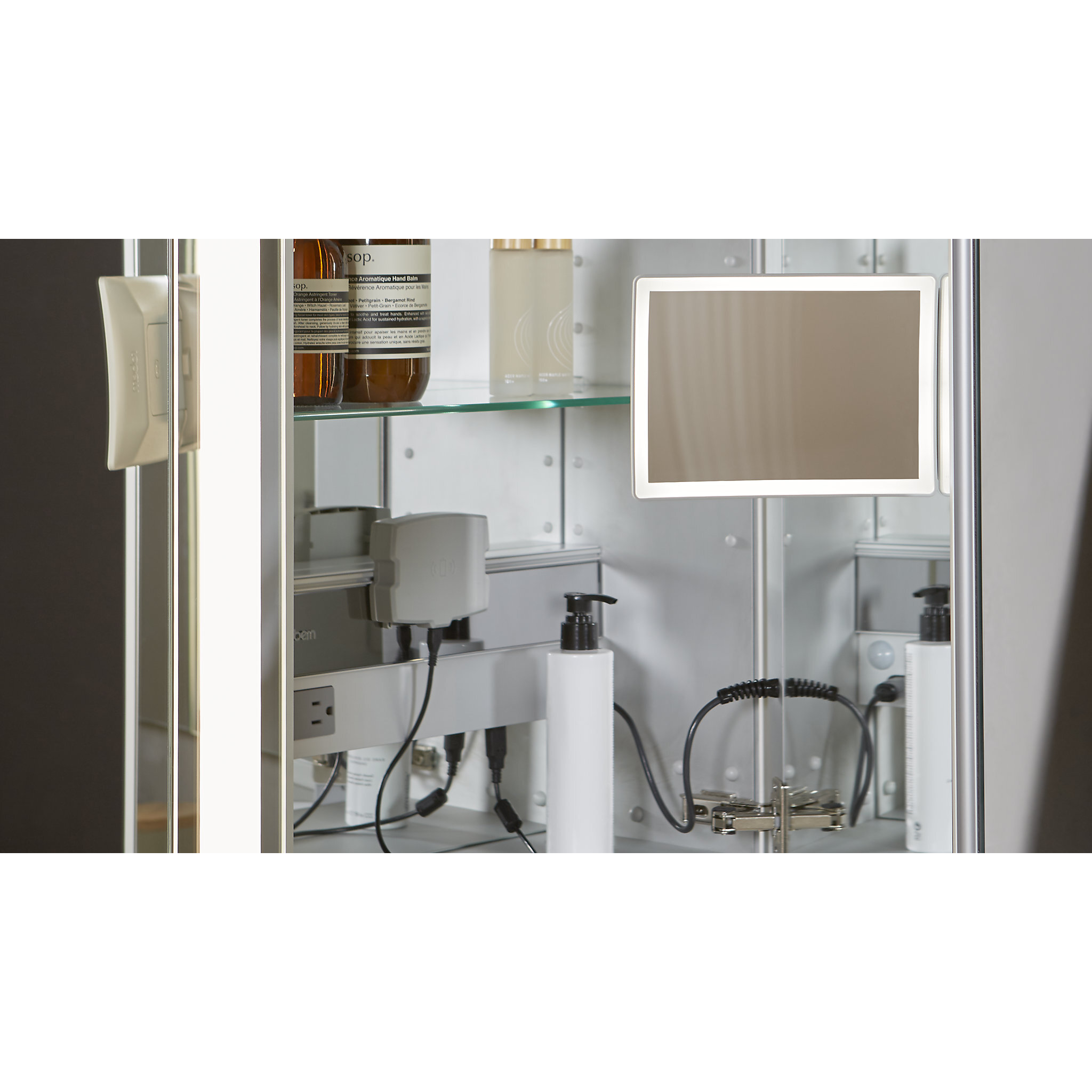 Robern M Series Recessed Frameless 1 Medicine Cabinet With 3 Adjustable Shelves Reviews Perigold