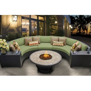 Barbados 6 Piece Sectional Seating Group with Cushions By TK Classics