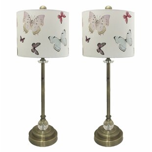 Garber Crystal 28 Buffet Lamp (Set of 2)