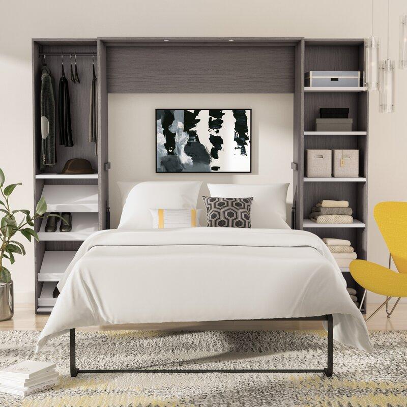 Wade Logan Medan Storage Murphy Bed Reviews Wayfair