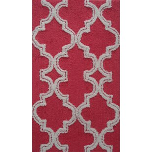 Read Reviews Handmade Raspberry/White Area Rug By Park Avenue Rugs