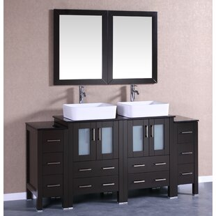 Monaco 72 Double Bathroom Vanity Set with Mirror by Bosconi