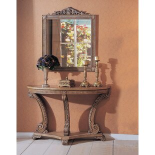 Astoria Grand Ovid Console Table with Mir..