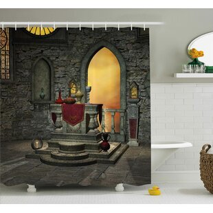 Great choice Gothic Ancient Holy Altar Shower Curtain By East Urban Home