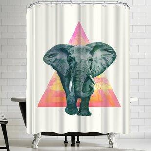 East Urban Home Laura Graves Elephant 2 Shower Curtain