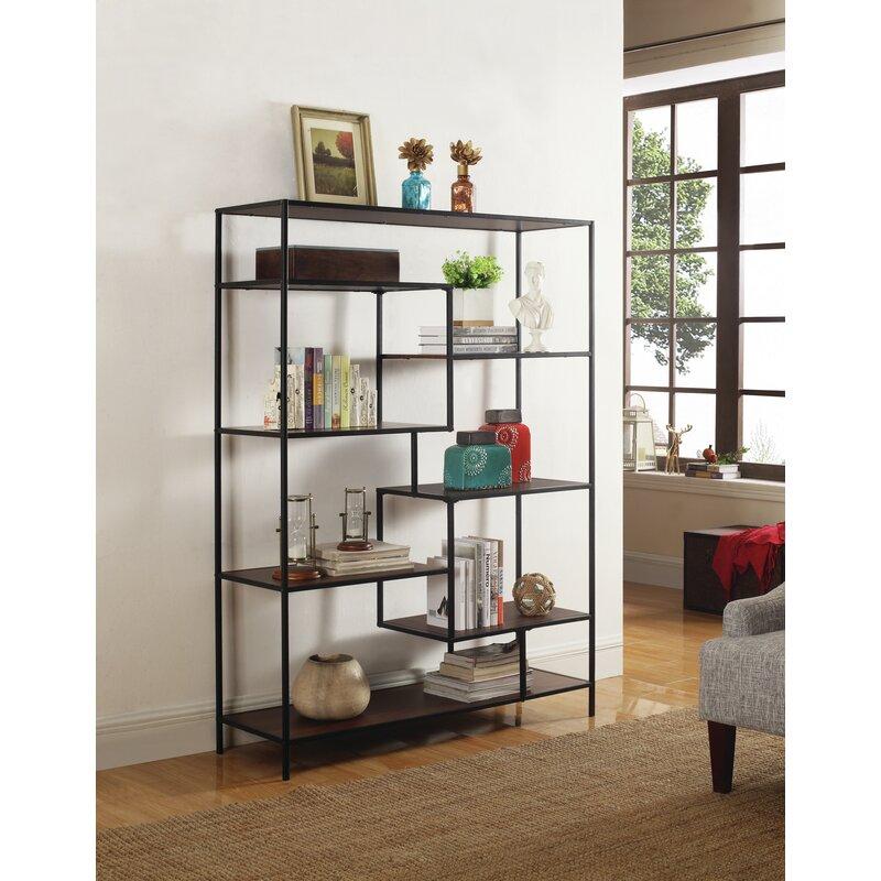 Latitude Run Kimberli Geometric Bookcase & Reviews | Wayfair