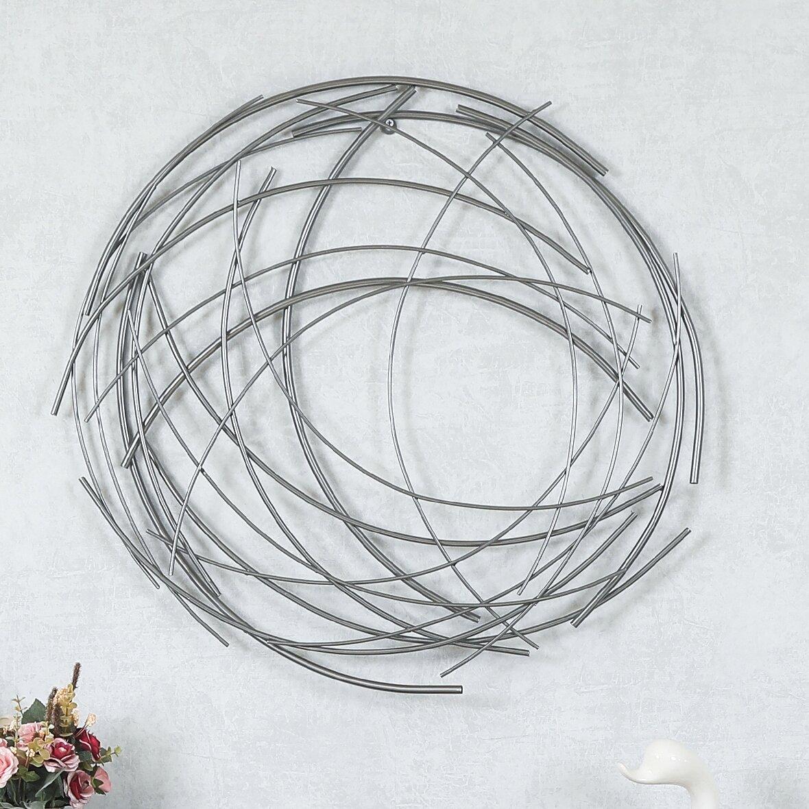 Abstract Iron Sticks Round Wall