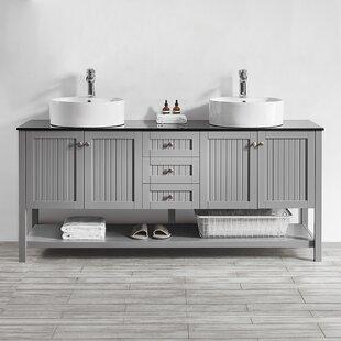 Nadler 72 Double Bathroom Vanity Set by Beachcrest Home