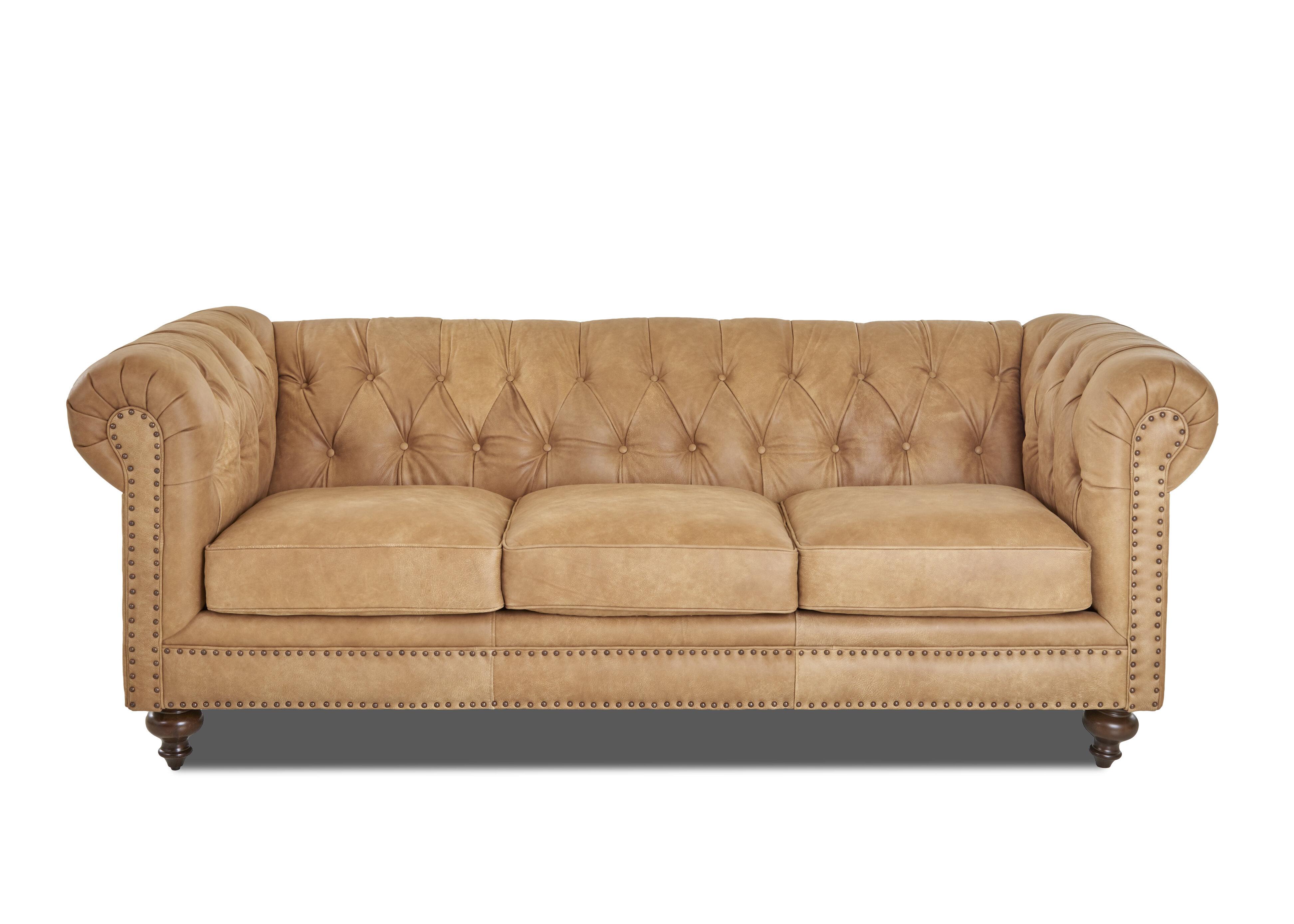 Kavya Leather Chesterfield Sofa